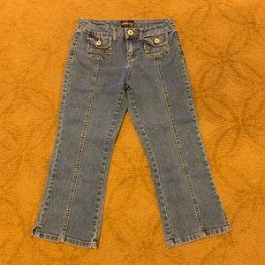 Charlotte USA denim blue crop jeans size 5/6